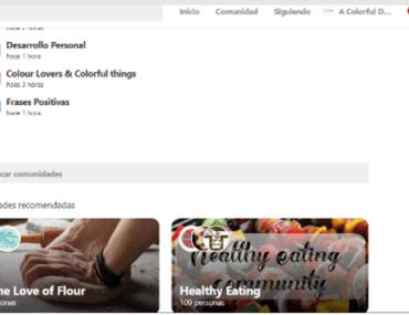 Comunidades de Pinterest