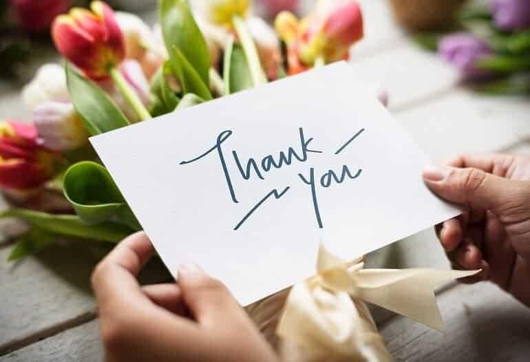 cosas por las que agradecer