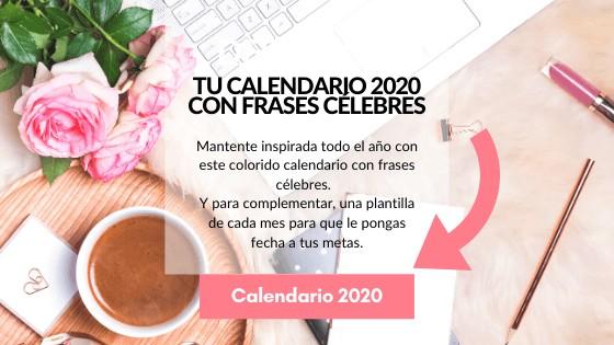calendario 2020 con frases célebres
