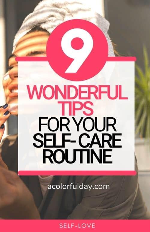Self-care tips self-care routine